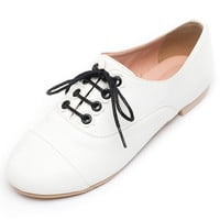 White Alona Oxfords -Limited Stock