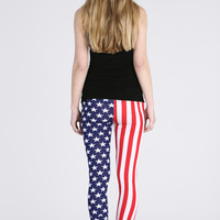 American Star / Stripes Legging - Find Cheap Clothes - Cheap Clothing - Womens £5 Fashion | Missrebel