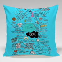 fault in our stars Square Pillow Case Custom Zippered Pillow Case one side and two side