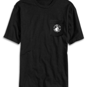 LMFON Made In Detroit Men's Heavy-Duty Workwear Pocket Tee-Black