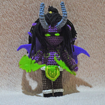 Illidan Stormrage amigurumi - Illidan Stormrage world of warcraft