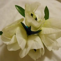 White Tulips Hair Fascinator
