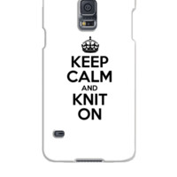 Keep Calm And Knit On - Samsung Galaxy S5 Case
