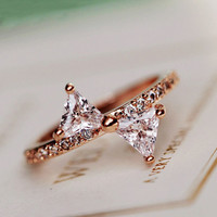 Bow In Style Rhinestone Ring