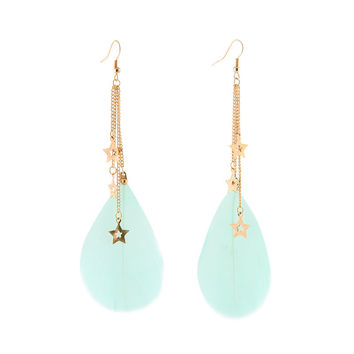 Korean Stylish Hollow Out Tassels Club Earring Earrings [4915768324]
