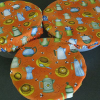 Reusable Bowl Covers, Elastic Bowl Covers, Eco Friendly Lids, Coffee Pot Bowl Covers