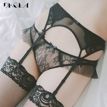 b17964dfc88 Lace Black sexy stockings with garters for women Temptation Ultr