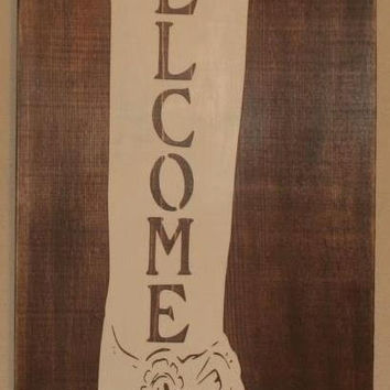 Western Wall Decor, Western Wall Art,  Western Welcome Sign, Welcome Sign, Custom Wood Sign, Western Wall Hanging, Western Boot - Welcome