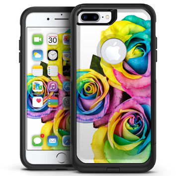 Rainbow Dyed Roses - iPhone 7 or 7 Plus Commuter Case Skin Kit