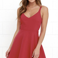 Dandelion Days Red Skater Dress