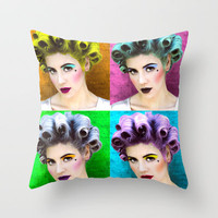 marina and the diamonds pop art Throw Pillow by Lovejonny | Society6