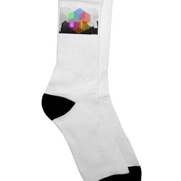 Chicago Abstract Adult Crew Socks