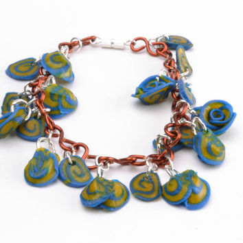 Bracelet handmade polymer clay casual fashion jewelry with charms present ideas