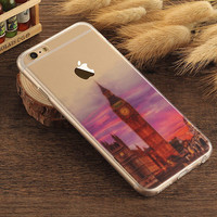 Big Ben Case TPU Cover for iphone 7 7 Plus & iphone 6 6s Plus & iphone se 5s + Gift Box