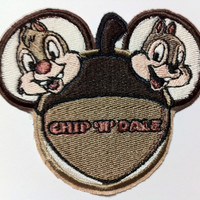Disney Chip and Dale Inspired Embroidered Mouse Ear Patch