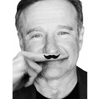 Robin Williams Life is a joke Art Print by Maioriz Home