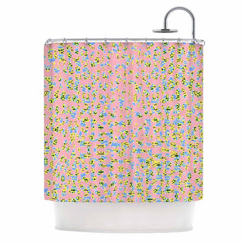 "Vasare Nar ""Peach Lepoard"" Pattern Pastel Shower Curtain"