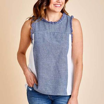 Doe & Rae Chambray S/L Top