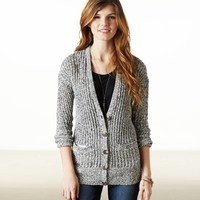 AEO Women's Ribbed Cardigan