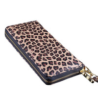 lady fashion long wallet style women wallets Quilted handbag Leopard purse female bag day clutches SD50-117
