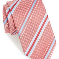 Men's BOSS Diagonal Stripe Woven Silk Tie