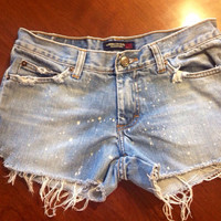 American Eagle Cut Offs Distressed Size 0 by SweetlyDistressed