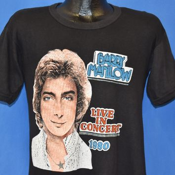 80s Barry Manilow Live in Concert t-shirt Medium