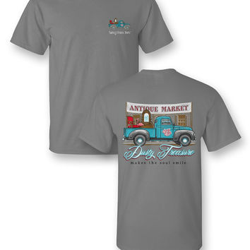 Sassy Frass Junkin Truck Dusty Treasure Makes the Soul Smile Unisex Bright T Shirt