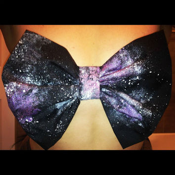 REDUCED PRICE sale GALAXY Space starry night sky universe Outer Space Black Milk Style Dyed Tie-dye Retro Vintage Black Orange
