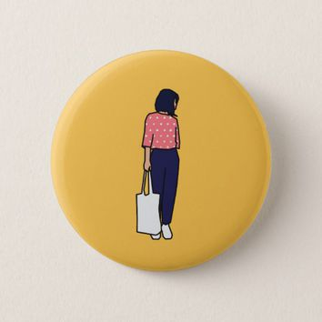 The Lady Pinback Button