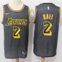 LA Lakers #8 #24 Kobe Bryant #2 Lonzo Ball #0 Kyle Kuzma #14 Brandon Ingram City Edition Jersey