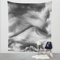 Structured Clouds - Black and White Wall Tapestry by Scott Hervieux | Society6