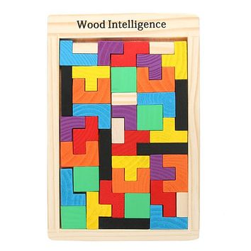 Baby Wooden Toys Jigsaw Board Brain Teaser Puzzle Toys Geometric Shape Game Children Educational Toy