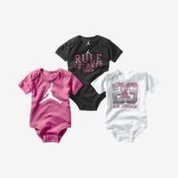 Check it out. I found this Jordan Rule Breaker Three-Piece Newborn Girls' Bodysuit Set at Nike online.
