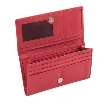 Style n Craft 300965-RD Ladies Clutch Wallet in Soft Cow Leather