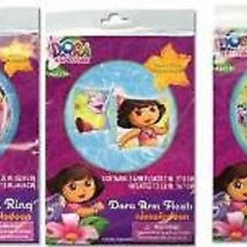 "Dora the Explorer  20"" Inflatable Beach Ball,Inflatable Swim ring,& Arm Floats"
