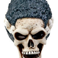 Bride of Frankenstein Skull Statue Horror Movie Skeleton Paper Weight