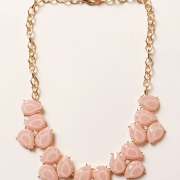 Bauble Stone Necklace Petal Pink