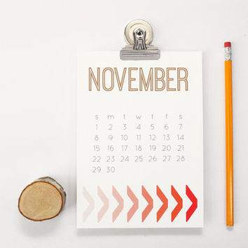 2015 Monthly Calendar Wall Desk Office Supplies Teacher Christmas Gifts Magnetic Calendar Ombre Pattern 2015 Planner Geometric Modern Design