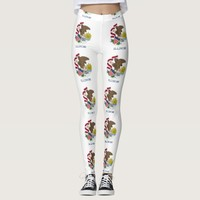 Leggings with flag of Illinois State, USA