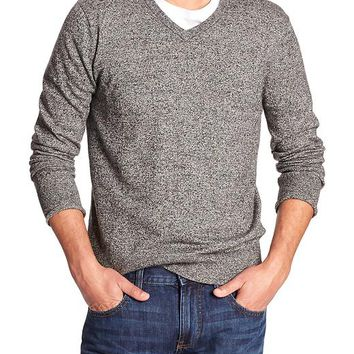 Banana Republic Factory Marled Vee Sweater
