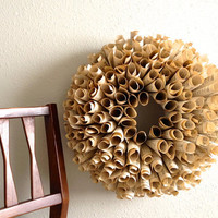 Fall Paper Wreath - vintage music,dictionary, or novel pages  - Etsy Front Page Item