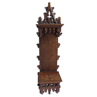 Antique French Cathedral Icon Shelf