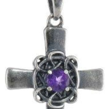 SHIP BY USPS: Sterling Silver Celtic Cross Pendant Necklace, 18""
