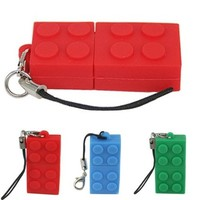 HDE 8 GB Novelty Building Block Brick Toy USB High Speed Flash Drive Memory Stick