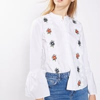 Embroidered Scallop Shirt