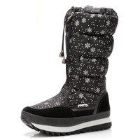 Womens Plush Snow Boots