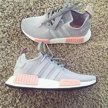 """Adidas"" NMD Women Fashion Trending Running Sports Shoes gery"
