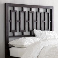 Window Headboard - Chocolate