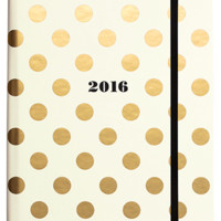 Kate Spade New York Medium 17 Month Agenda- Gold Dots